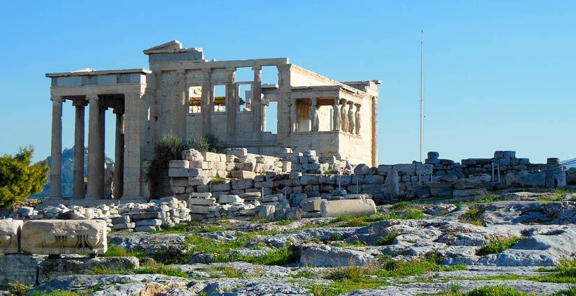 Erecteion en la Acrópolis de Atenas