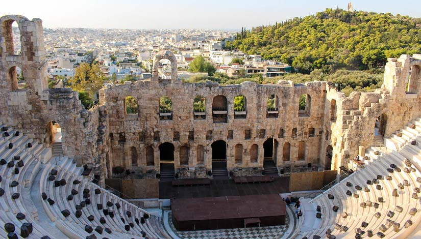 Odeón de Herodes en la Acropólis de Atenas