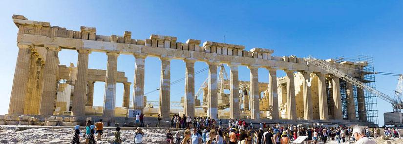 Partenón en la Acropólis de Atenas