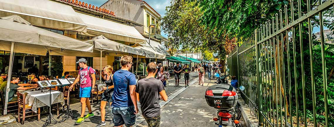 Calle en Plaka Atenas