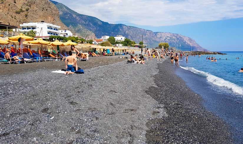 Arena en la playa de Agia Roumeli