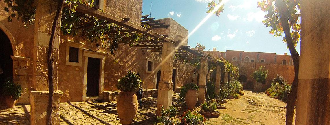 Patio del monasterio Arkadi Creta