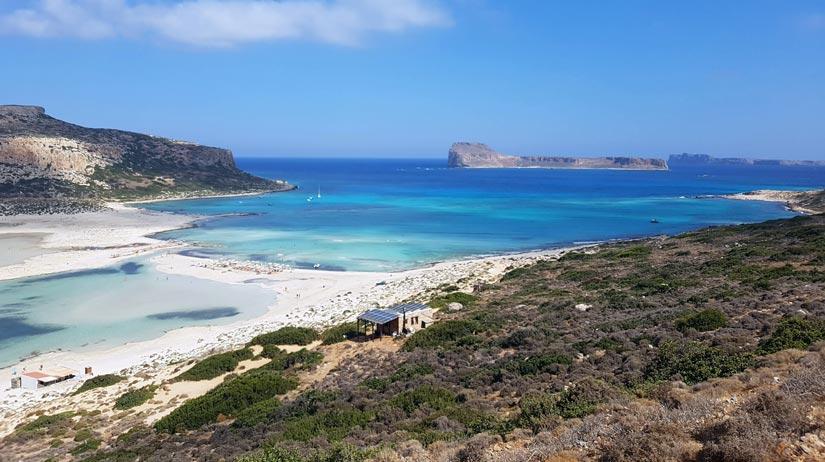 Vista general playa de Balos