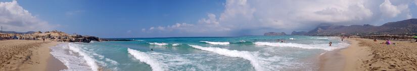 Vista panorámica de toda la playa de Falasarna