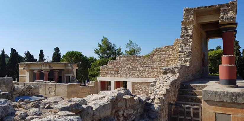 Interior palacio Knossos