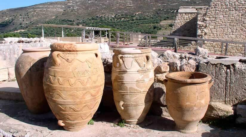 Pithois en Knossos almacenes