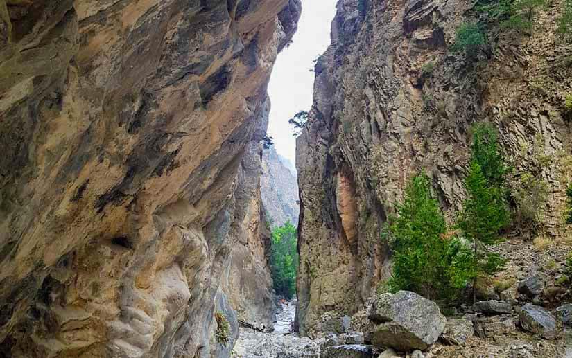 Puertas de hierro sendero garganta Samaria