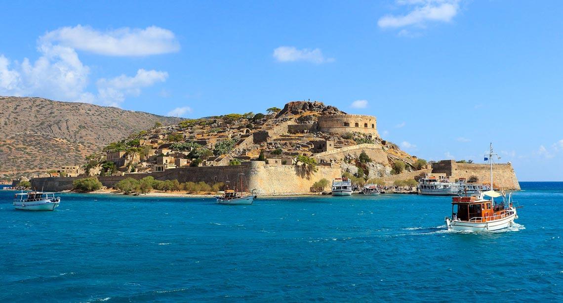 Fortificación veneciana en la isla de Spinalonga