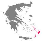 mapa islas dodecaneso grecia