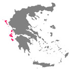 mapa islas jonicas grecia