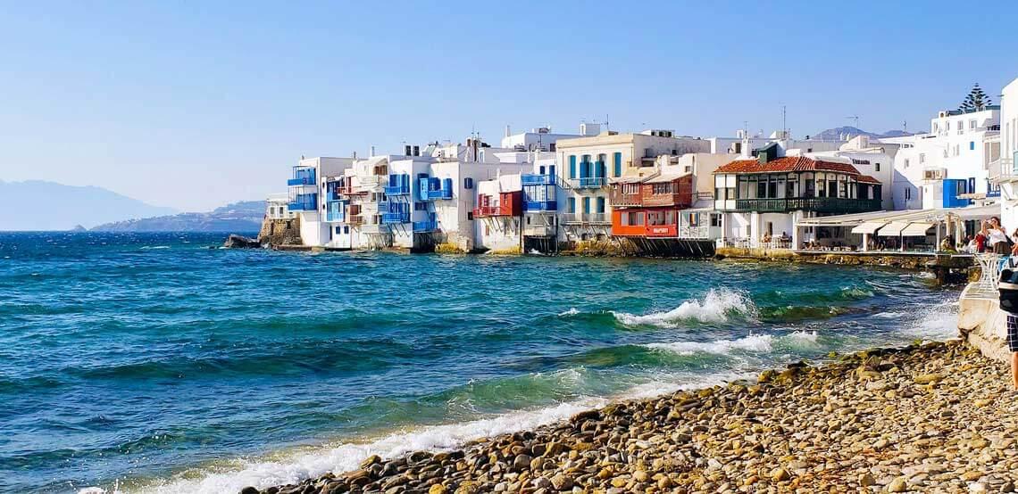 Barrio Alefkandra o pequeña Venecia en Mykonos