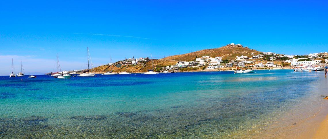 Orilla playa Ornos Mykonos