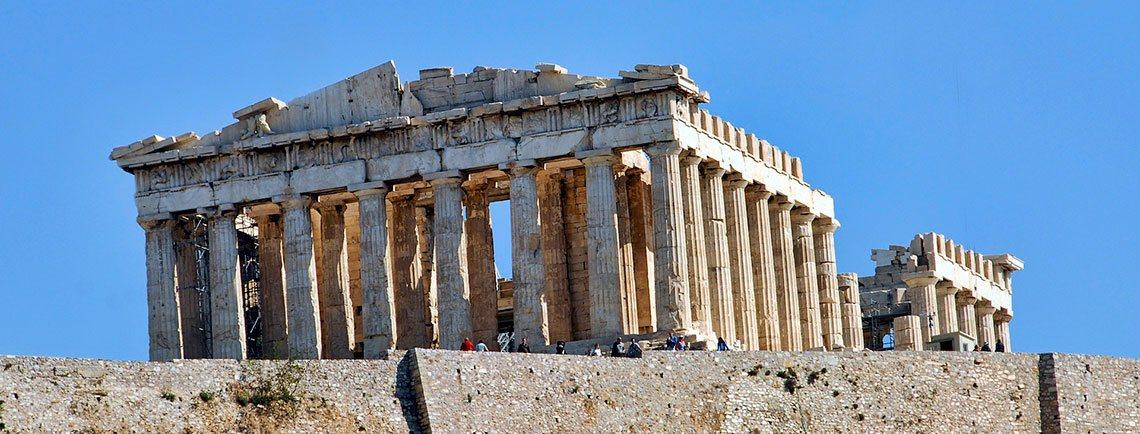 Vista del PArtenón de Atenas