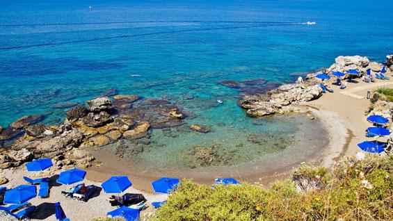 Playa de Kallithea en Rodas