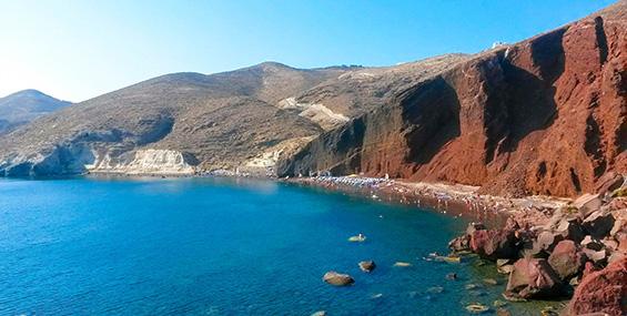 Playa Roja en Akrotiri