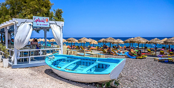 Playa de Kamari, Santorini
