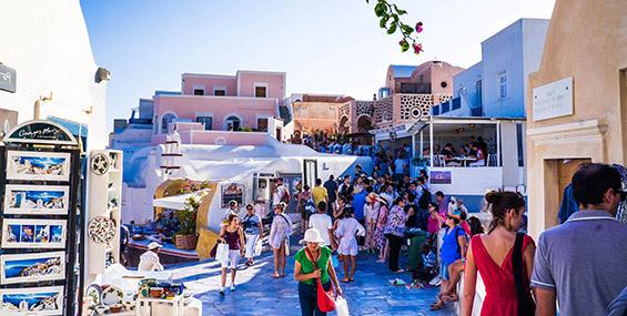 Calles del pueblo de Oía, Santorini